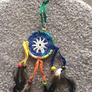 Mini Dream Catcher, Crocheted, Handmade
